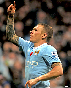 Manchester City midfielder Craig Bellamy