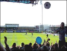 The last game at the Vetch