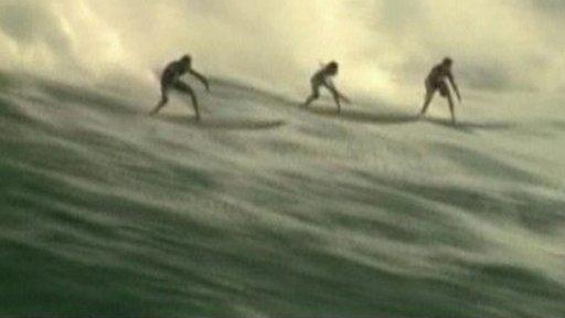 Surfers in Hawaii