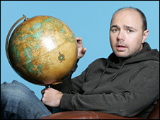 Karl Pilkington - picture courtesy of Jack Barnes/Sky1.