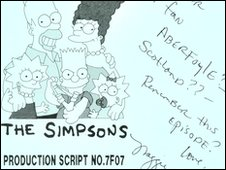 Script of 1990 Simpsons episode up for sale