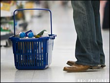 Shopper with basket