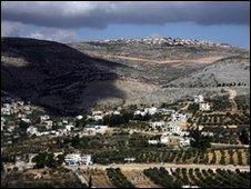 Panoramic view of Nablus