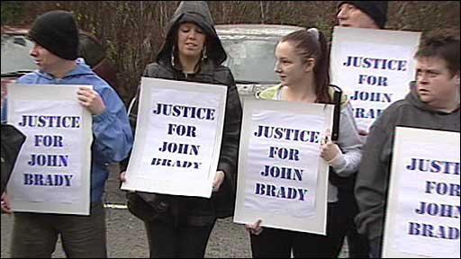 Supporters of John Brady
