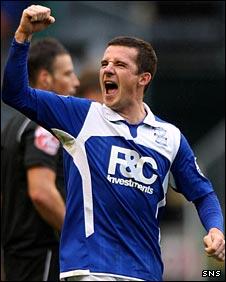 Birmingham midfielder Barry Ferguson