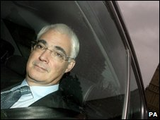 Alistair Darling arrives at Parliament