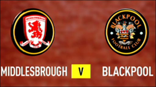 Middlesbrough 0-3 Blackpool