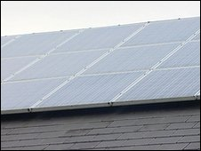 Solar panels on school (BBC)