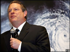 Al Gore promoting An Inconvenient Truth