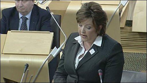 Fiona Hyslop led the debate