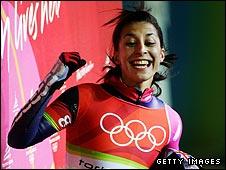 Shelley Rudman was Britain's sole medal winner in Turin in 2006