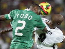 Joseph Yobo in action for Nigeria
