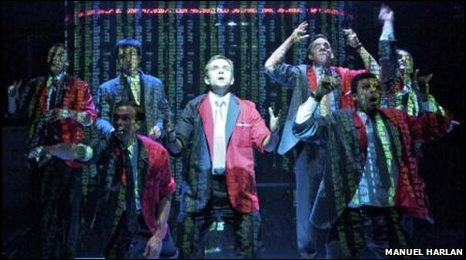 A scene from Lucy Prebble's hit play Enron