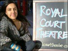 Alia Bano outside the Royal Court