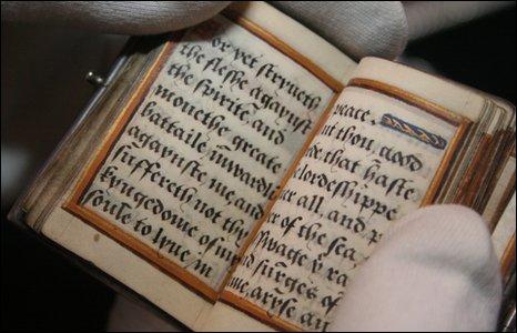 Handwritten prayer book