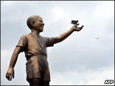 Obama statue, Jakarta, Indonesia 10 Dec 09