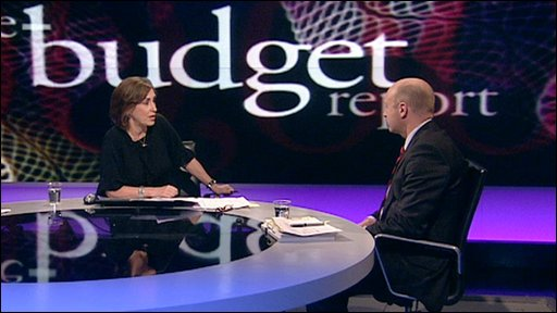 Kirsty Wark and Liam Byrne
