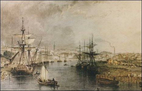 The view from Stockton bridge, 1832.