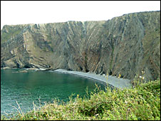 The cove at Hartland Quay