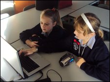 School Reporters from Rainham School for Girls, Gillingham, Kent
