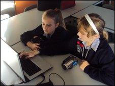 School Reporters from Rainham School for Girls, Gillingham, Kent