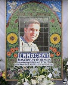 Mural in memory of Jean Charles de Menezes
