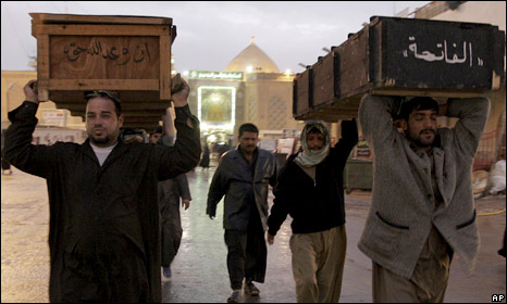 A funeral in Najaf, Iraq