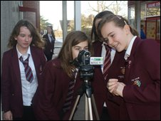 School Reporters at Colne Community School in Colchester, Essex