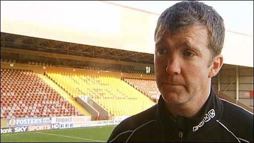 Motherwell manager Jim Gannon