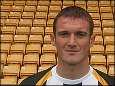 Port Vale defender Lee Collins