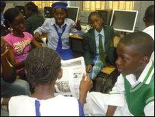 School Reporters in Abuja, Nigeria