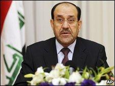 Al-Maliki in Baghdad, 9 Dec (Govt handout)