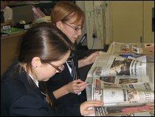School Reporters at Robert Pattinson School in Lincoln
