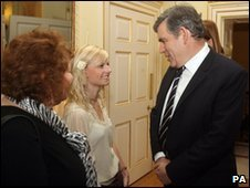 Alex King with Gordon Brown