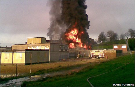 Fire at former Sighthill Primary