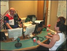 Studio 1 at BBC Radio Stoke