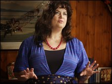 Ruth Jones plays Brenda Rhys in A Child's Christmases in Wales