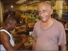 Cigar factory foreman Rafael Enchemendia