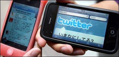 Twitter on mobiles, AP