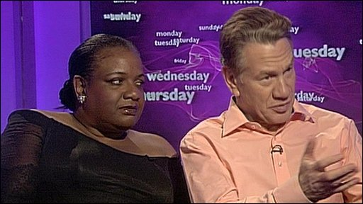 Diane Abbott and Andrew Rawnsley