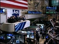 AOL sponsoring the opening bell at the New York Stock Exchange