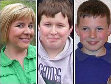 Michelle, Callum and Ethan Owen