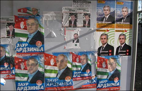 Election campaign posters, Sukhumi