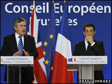 Gordon Brown (left) and Nicolas Sarkozy (Getty Images)