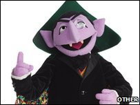 The Count von Count from Sesame Street. Image supplied courtesy of Sesame Street