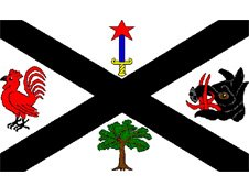 Flag bearing the coat of arms