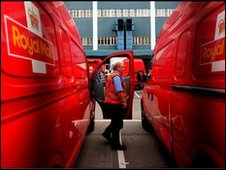 Royal Mail vans/driver