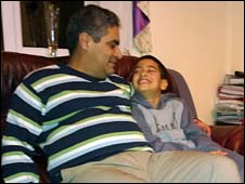 Waheed Akbar and his nine-year-old son Zain