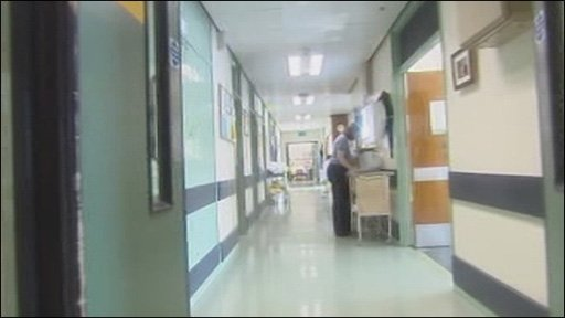 Inside University Hospital of Wales (library)
