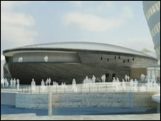 Artist's impression of the planned museum (Wilkinson Eyre)